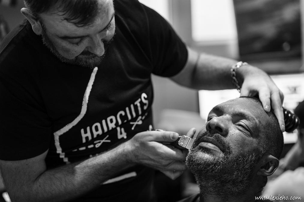 Haircuts for homeless